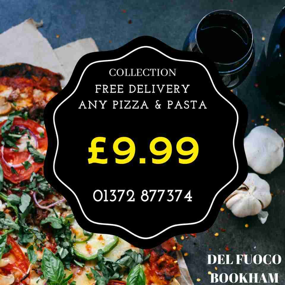 Pizza Takeaway from Del Fuoco! £9.99 any pizza & pasta
